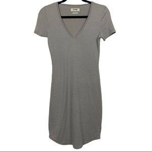Aritzia Golden by TNA Inland T-Shirt Dress Taupe